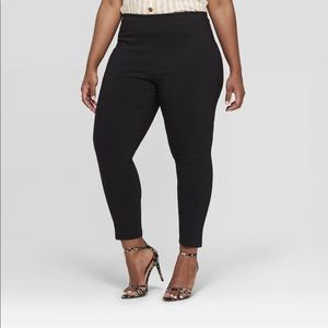 WhoWhatWear high rise/stretch ankle pants 24W